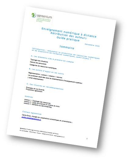 Guide de rétribution des auteurs pour l'enseignement numérique à distance
